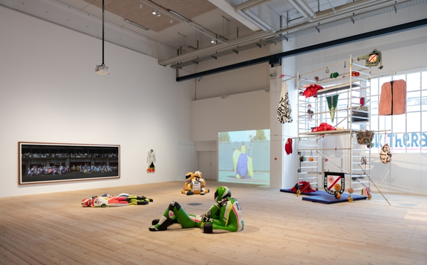 Installation view in Art of Sport at Copenhagen Contemporary, 2021. Photo: David Stjernholm